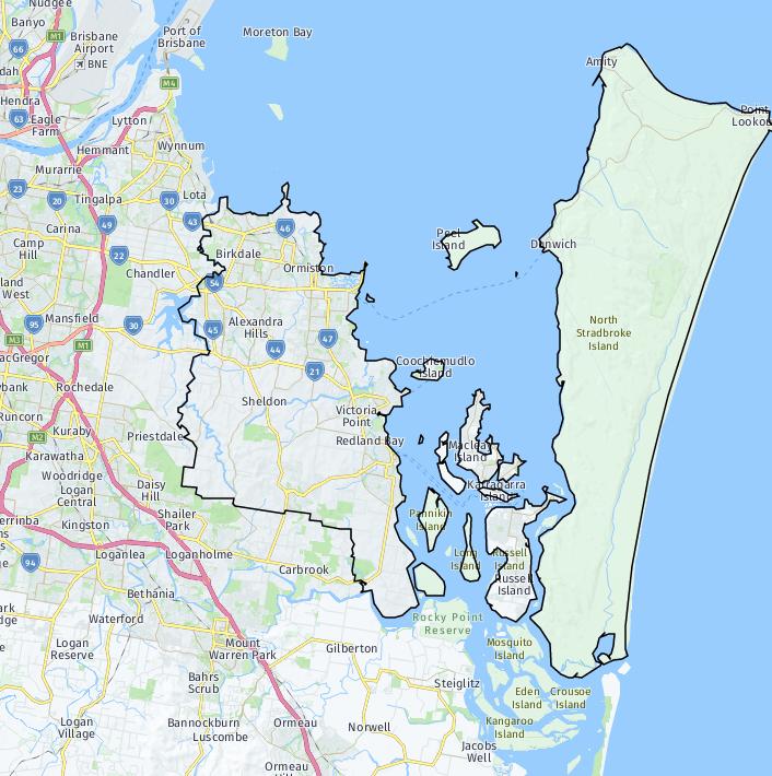 redlands map