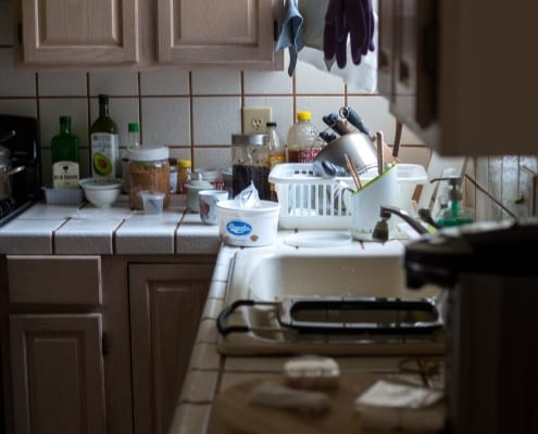 clutter in the kitchen