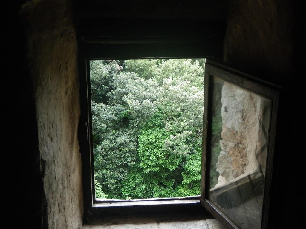 an open window to improve ventilation
