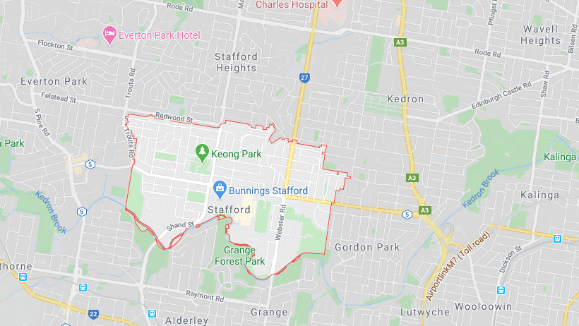 stafford on map