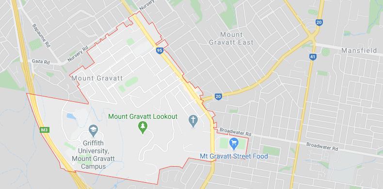 mount gravatt on map