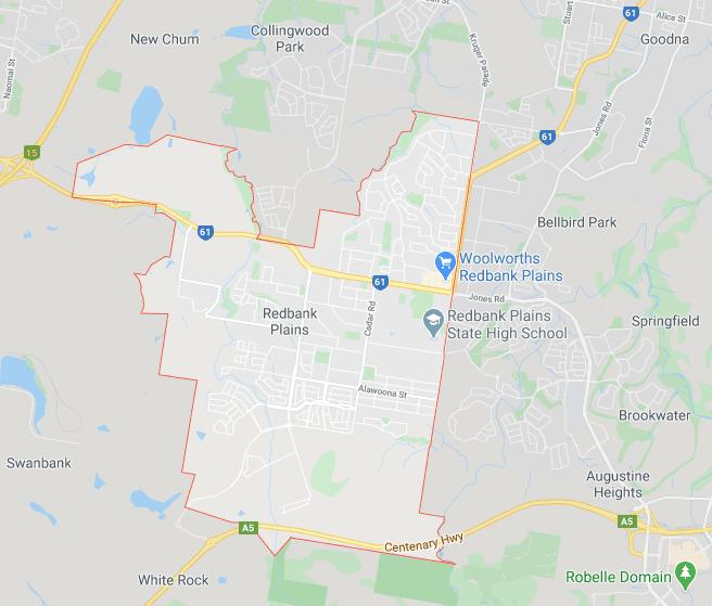 redbank plains on map