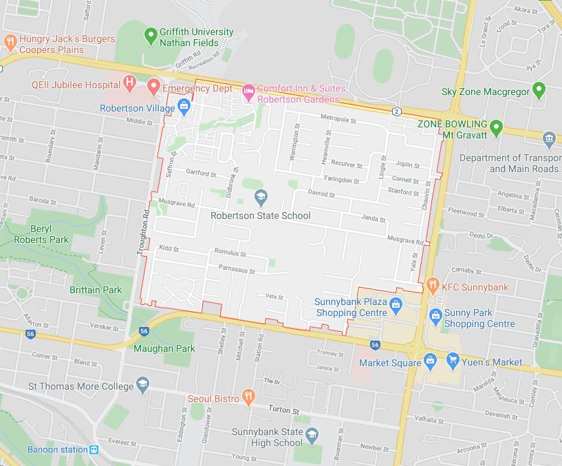 robertson on map