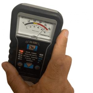 Moisture meter in building inspection